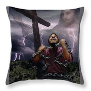 The Power Of Christ Throw Pillow