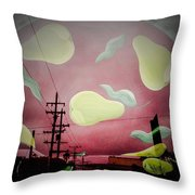 The Power Of Pear Throw Pillow