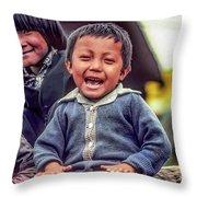 The Power Of Smiles Throw Pillow