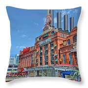 The Power Plant In The Baltimore Inner Harbor Throw Pillow
