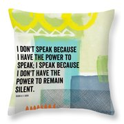 The Power To Speak- Contemporary Jewish Art By Linda Woods Throw Pillow