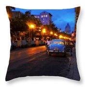 The Prado, Havana Cuba Throw Pillow