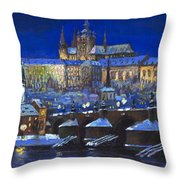 The Prague Panorama Throw Pillow