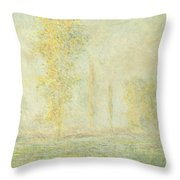The Prairie In Giverny Throw Pillow