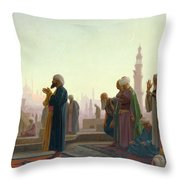 The Prayer Throw Pillow by Jean Leon Gerome