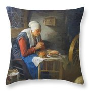 The Prayer Of The Spinner Throw Pillow