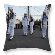 The Precision Rifle And Flag Drill Team Throw Pillow