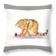 The Present Wrapper Throw Pillow
