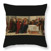 The Presentation At The Temple Throw Pillow