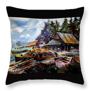 The Preserve Of Captain Flood Throw Pillow