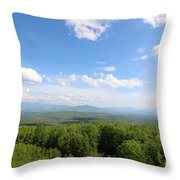 The Presidential Range From The Watchtower At Weeks State Park Throw Pillow