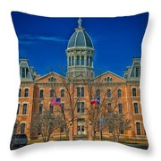 The Presidio County Courthouse Throw Pillow