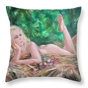 The Pretty Summer Throw Pillow