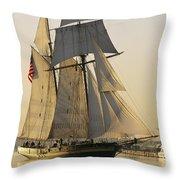 The Pride Of Baltimore Clipper Ship Throw Pillow