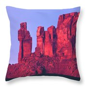 612717-the Priest And The Nuns  Throw Pillow