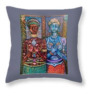 The Priestess Of The Occult Throw Pillow
