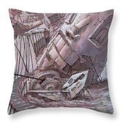 The Primary Upturn Throw Pillow