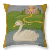 The Princess Swan Throw Pillow