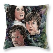 The Princess, The Knight And The Scoundrel Throw Pillow