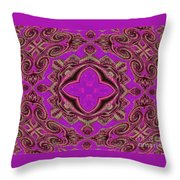 The Princesses Palace In Pink And Gold Throw Pillow