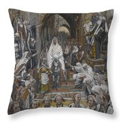 The Procession In The Streets Of Jerusalem Throw Pillow