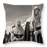 The Procession Throw Pillow