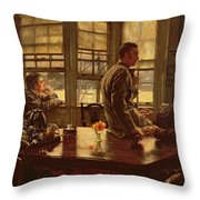 The Prodigal Son In Modern Life  The Departure Throw Pillow