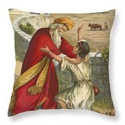 The Prodigal's Return Throw Pillow by  English School