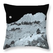 The Profile Of An Uncouth Guy Etched In Stone  Throw Pillow