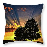 The Promise Oil Throw Pillow