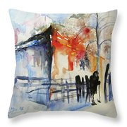 The Promised Land Throw Pillow
