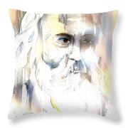The Prophet Throw Pillow by Arline Wagner