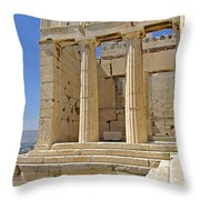 The Propylaia In Athens          The Propylaia - Vertical                                    Throw Pillow