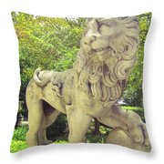 The Proud Lion  Throw Pillow