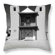 The Pueblo Church Throw Pillow