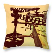 The Pulley Wagon Throw Pillow