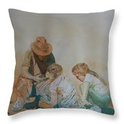 The Pumice Seekers Throw Pillow
