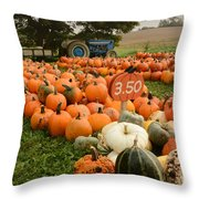 The Pumpkin Farm One Throw Pillow