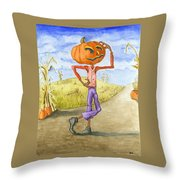 The Pumpkinhead Throw Pillow