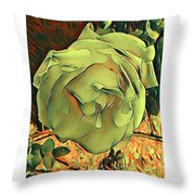 The Purest Rose Throw Pillow