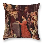 The Purification Of The Virgin 1640 Throw Pillow