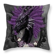 The Purple Dragon Throw Pillow