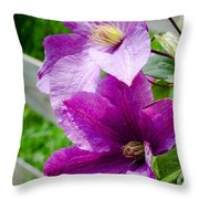 The Purple Flowers Throw Pillow