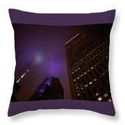 The Purple Fog Throw Pillow