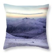 The Purple Headed Mountains Throw Pillow