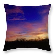 The Purple's Sunset Throw Pillow