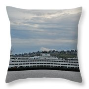 The Puyallup Ferry In Seattle Throw Pillow