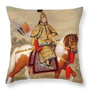 The Qianlong Emperor Throw Pillow
