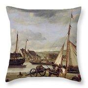 The Quay At Rouen Throw Pillow