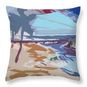 The Quay-seaside Throw Pillow